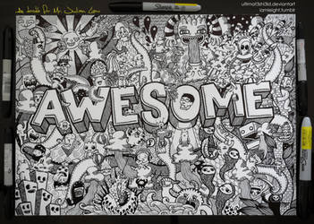 Commissioned Doodle: AWESOME by LeiMelendres