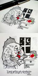 Doodle Strawberry Goldlfish by LeiMelendres