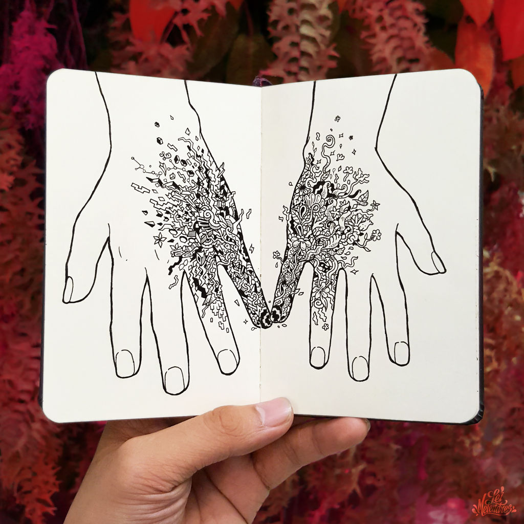 Doodle Art : Touch by LeiMelendres