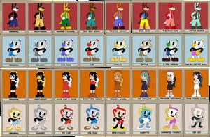 Bendy/Cuphead BFFs (Color Variants) by Gamerboy123456
