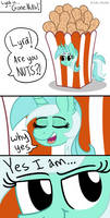 Lyra is Nuts! (ATG Day 3) by Pink-Pone