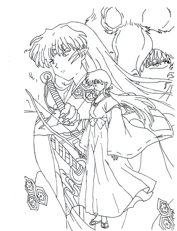 Inuyasha Badguys Lineart By Tseng Akera On Deviantart