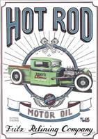 Vintage Hot Rod Sign by DominikScherrer