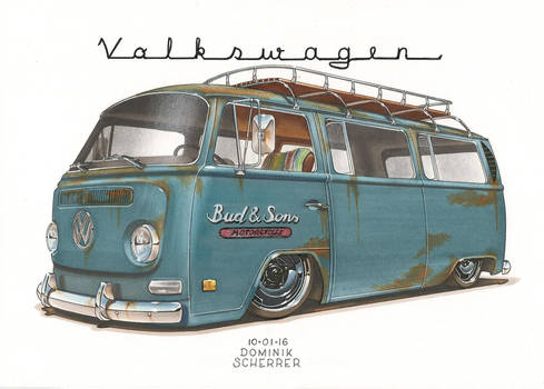 '69 VW Bus T2 by DominikScherrer