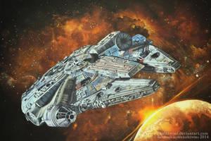 Millennium Falcon by ChalkTwins