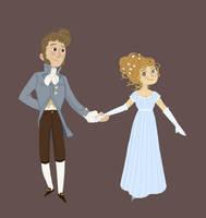 Jane and Bingley... in progress by Ceydran