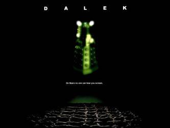 Dalek poster in the style of 'Alien' by Leda74