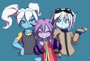 Lol Yordle Girls by dan-heron