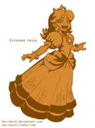 Dan Redraws Princess Daisy by dan-heron