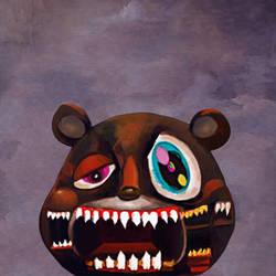 kanye POWER bear by bfxiii