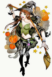 halloween witch by ReiRaven
