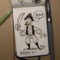 ArGh!!! INKtober DAY #2 by ClaudioNaccari