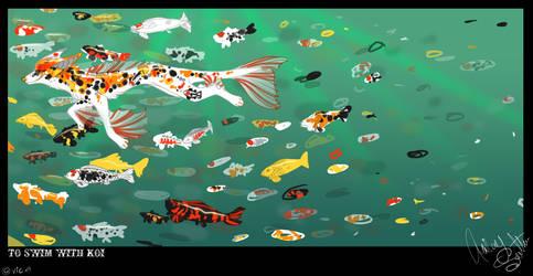 To Swim With Koi by VintageIceCream