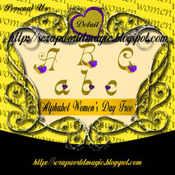 Alphabet Women's Day png Free by weezya