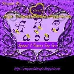 Alphabet 2 Women's Day png Free by weezya