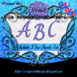 Alphabet I Love Myosotis png Free by weezya