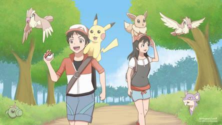 My OC x Pokemon Let's Go! (+Speedpaint) by ipokegear