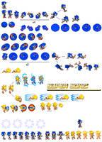 Sonic Adventure 2 sprites by dinojack9000
