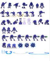 Custom Mecha Sonic sprites by dinojack9000