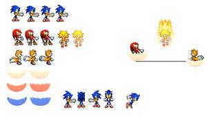 Sonic heroes ending sprites by dinojack9000