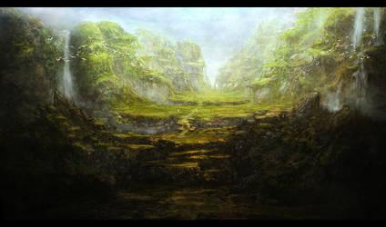 Fantasy landscape by WiredHuman