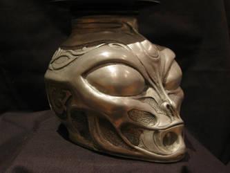alien candle holder by DarkOneAtWork