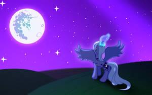 Luna's rise by WarpOut