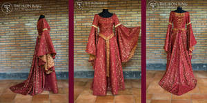 Red and gold dress by TheIronRing