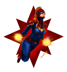 Captain Marvel by piratebutl23