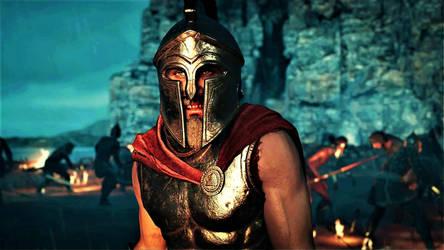 AC: ODYSSEY (PT19) - KING LEONIDAS OF SPARTA 3 by CommanderKorra