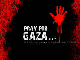 pray for gaza by kriptech