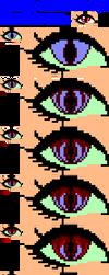 Pixel dragon/demon/vampire/monster eye tutorial by doris4u