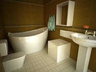 Interior Bathroom by Kmsecer
