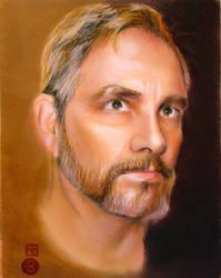 Self Portrait2 9x12 by Sylvanwoods