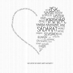 heart typography by skykhan