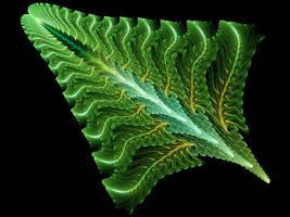 Green Crystal Leaf by Thelma1