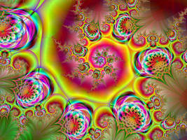 Psychedelic Garden by Thelma1