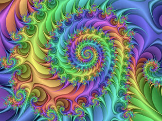 Trippy Hippie Spiral by Thelma1