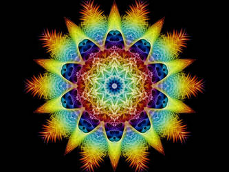 Rainbow Snowflake by Thelma1