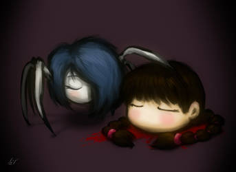 Spider Yomika and Severed Head Madotsuki by AuretheAudio