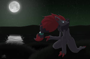 Zoroark in the night by Dragon-Minded