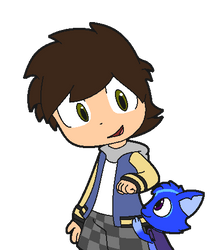 Me with my Fiction Pet Tommy by Anthony-Zel