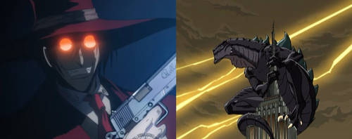 Alucard and Godzilla (GTS) by Fail-Seeker