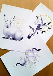 Inktober Prints Sale! by Noxaunu