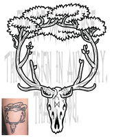 Elk Tree Tattoo by AThousandRasps