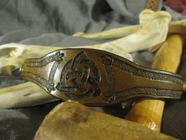 Brown Triquetra Bracelet by AThousandRasps