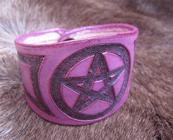 Purple and Black Pentagram Bracelet by AThousandRasps