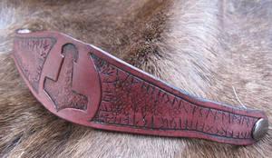 Runic Mjolnir Bracelet by AThousandRasps