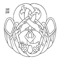 Inktober 12 (knotwork birds) by AThousandRasps