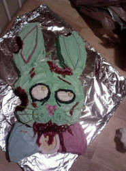Zombie Bunny Cake by irdeadite
